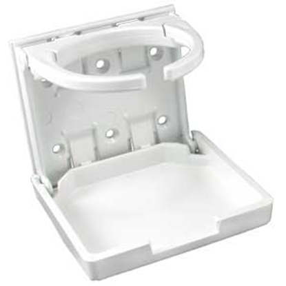 "Picture of JR Products  White Adjustable ""Mugger"" Drink Holder 45624 03-0668"