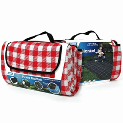 """Picture of Camco  Red/White 51"""" x 59"""" Picnic Blanket 42801 03-0721"""