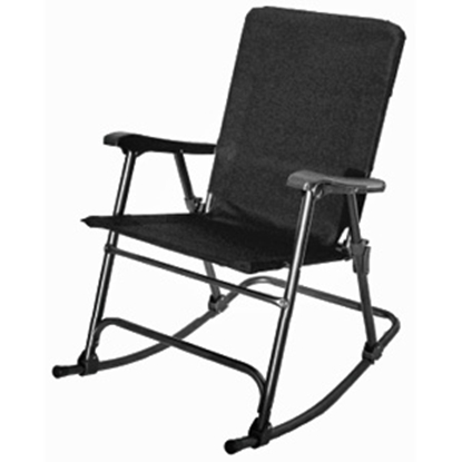 Picture of Prime Products Elite(TM) Baja Black Folding Rocker Chair 13-6509 03-0919