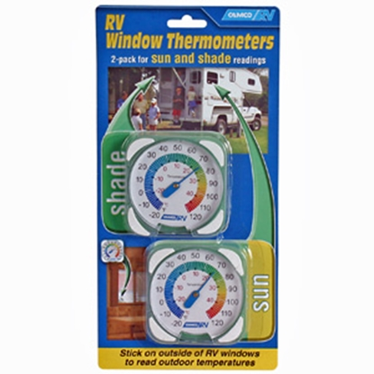 Picture of Camco  2-Pack Analog Window Mount Thermometer 44313 03-0926