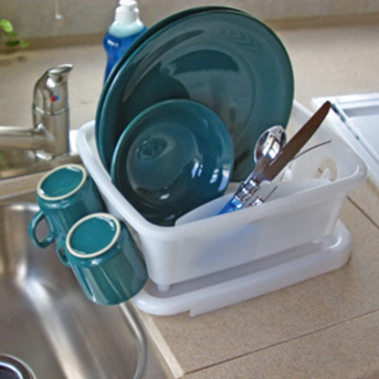 Picture of Camco  White Mini Dish Drainer & Tray 43511 03-0938