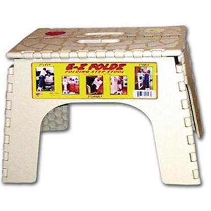 """Picture of B&R Plastics E-Z FOLDZ 9""""H White Plastic Folding Step Stool 101-6 03-0965"""
