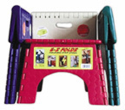 "Picture of B&R Plastics E-Z FOLDZ 6-Pack 9""H Assorted Plastic Folding Step Stool 101-6FA 03-0977"