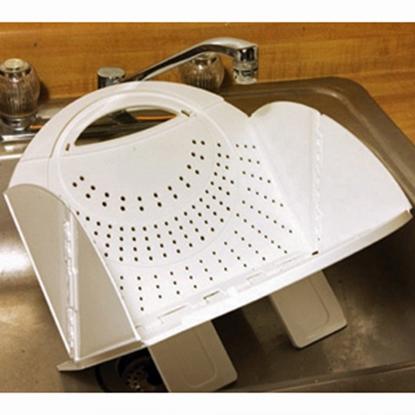 Picture of B&R Plastics  White Folding Colander 2721-12 03-0988