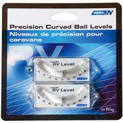 Picture of Camco  2-Pack Adhesive/Screw-On Side/Side & Front/Rear Curve Ball RV Level 25553 03-1163