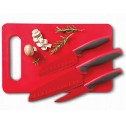 Picture of Granger  3-Piece Cutlery Set w/ Cutting Board 92288.04 03-1206