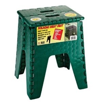 "Picture of B&R Plastics E-Z FOLDZ 15""H Forest Green Plastic Folding Step Stool 152-6FG 03-1219"