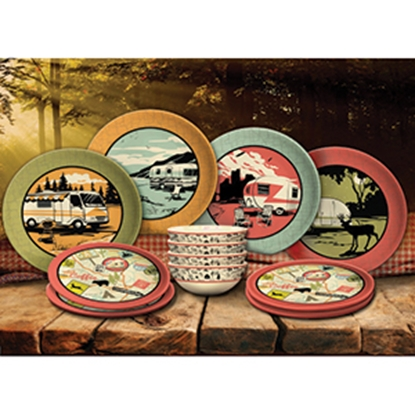Picture of Camp Casual 12-Piece Melamine Dish Set CC-001