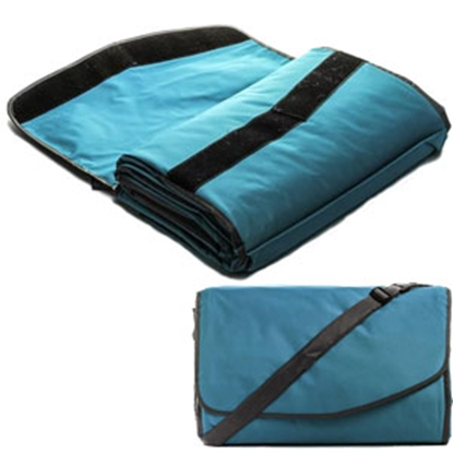 Picture of Camco  Teal Picnic Blanket w/ Strap 42807 03-1288