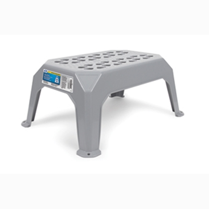 "Picture of Camco  17-3/8""H Gray Plastic Step Stool 43470 03-1461"