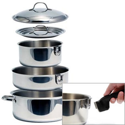Picture of Camco  7-Piece Stainless Steel Nesting Cookware Set 43920 03-1958