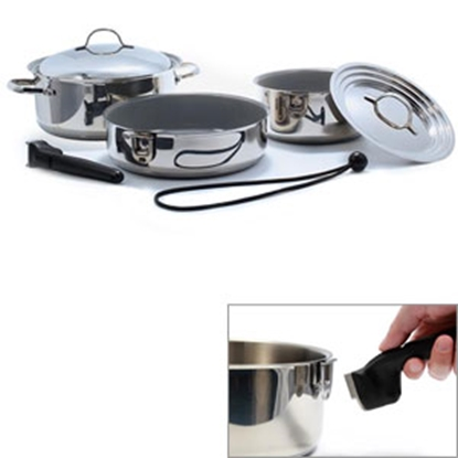 Picture of Camco  7-Piece Ceramic Nesting Cookware Set 43925 03-1960