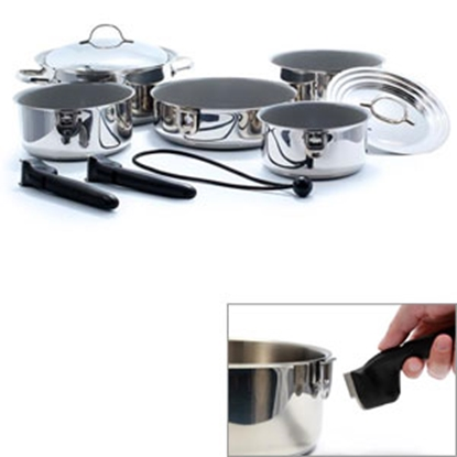 Picture of Camco  10-Piece Ceramic Nesting Cookware Set 43926 03-1961