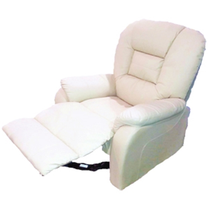 Picture of Heng's  Tan Leatherette Swivel Recliner 81053 03-2002