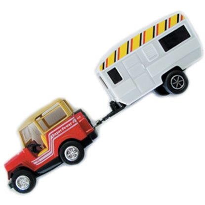 Picture of Prime Products  Jeep and Trailer RV Action Toy 27-0010 03-3023