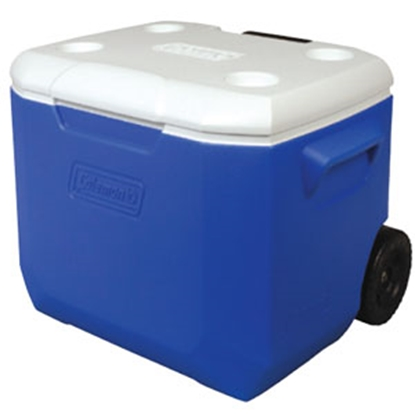 Picture of Coleman Outdoor  Blue 60 Quart Performance Wheeled Beverage Cooler 3000001838 03-9945