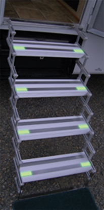 "Picture of Torklift Glow Step 6"" x20"" 5-Step Manual Folding Removable Steps A7505 04-0047"