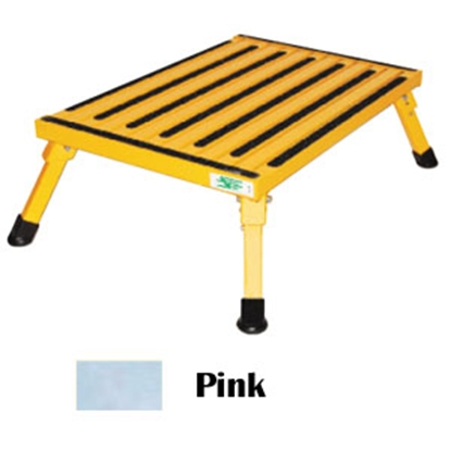 "Picture of Safety Step  8""H Pink Aluminum Folding Step Stool F-08C-P 04-0149"