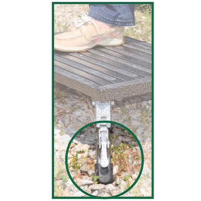 """Picture of Safety Step  7 To 9""""H Adjustable Gray Aluminum Folding Step Stool A-10C-G 04-0177"""