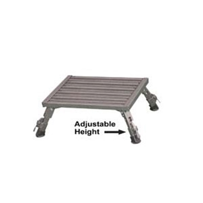 "Picture of Safety Step  7 to 8-1/2""H Adjustable Gray Aluminum Folding Step Stool XLA-09C-G 04-0178"
