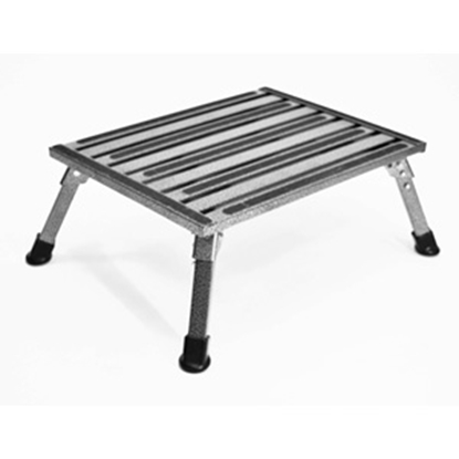 "Picture of Safety Step  8""H Silver Vein Aluminum Folding Step Stool F-08C-V 04-0201"