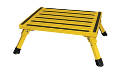 "Picture of Safety Step  8""H Yellow Aluminum Folding Step Stool F-08C-Y 04-0203"