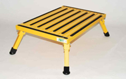 "Picture of Safety Step  8""H Yellow Aluminum Folding Step Stool XL-08C-Y 04-0221"