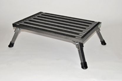 "Picture of Safety Step  8""H Gray Aluminum Folding Step Stool XL-08C-G 04-0222"