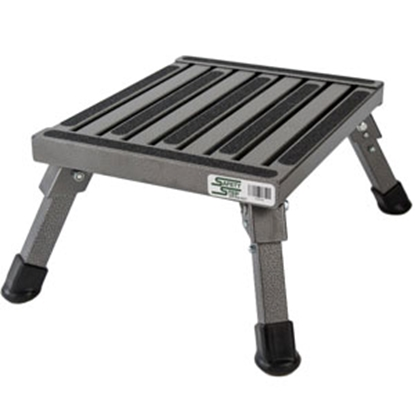 "Picture of Safety Step  7""H Silver Vein Aluminum Folding Step Stool S-07C-V 04-0243"