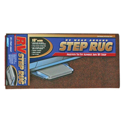 "Picture of Camco  18"" Wide Brown Wrap-Around Step Rug 42921 04-0284"