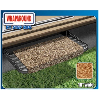 "Picture of Prest-o-Fit Wraparound (R) Brown 18"" Entry Step Rug 2-0041 04-0296"