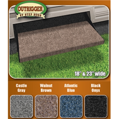 "Picture of Prest-o-Fit Outrigger (R) Imperial Blue 18"" Entry Step Rug 2-0312 04-0307"