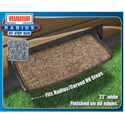 "Picture of Prest-o-Fit Wraparound (R) Radius (TM) Brown 22"" Entry Step Rug 2-0201 04-0318"