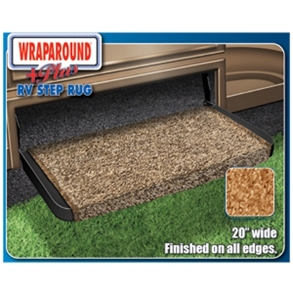 "Picture of Prest-o-Fit Wraparound (R) Plus Burgundy 20"" Entry Step Rug 2-1074 04-0329"
