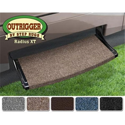 "Picture of Prest-o-Fit Outrigger (R) Chocolate Brown 22"" Radius XT Entry Step Rug 20385 04-0337"