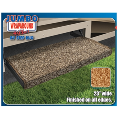 "Picture of Prest-o-Fit Jumbo Wraparound (R) Plus Imperial Blue 23"" Entry Step Rug 2-1051 04-0372"
