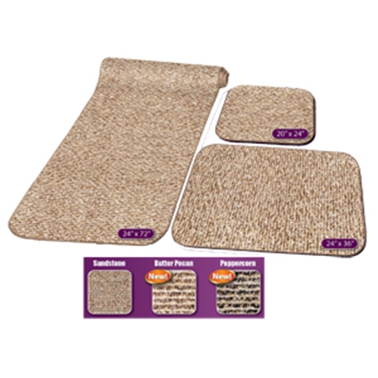 Picture of Prest-o-Fit Decorian (R) Butter Pecan 3-Piece RV Rug Set Carpet 5-0262 04-0454