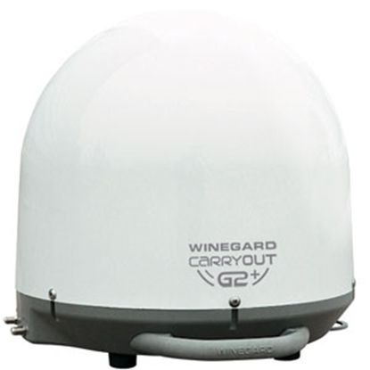 Picture of Winegard Carryout G2+ White Portable Automatic Stationary Satellite TV Antenna GM-6000 04-6500