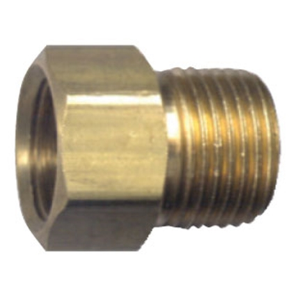 "Picture of JR Products  1/4"" IF x 1/4"" MPT Brass LP Adapter Fitting 07-30045 06-0053"