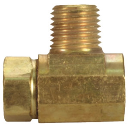 "Picture of JR Products  1/4"" IF x 1/4"" IF x 1/4"" MPT Tee Style LP Adapter Fitting 07-30055 06-0054"