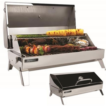 Picture of Camco Olympian  Polished SS Rectangular Olympian 6500 LP Gas BBQ Grill 57245 06-0085