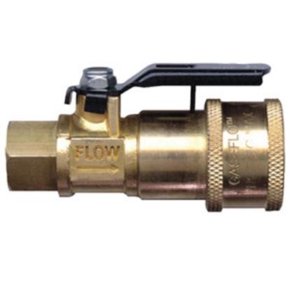 Picture of JR Products Gas Flow (TM) Coupler Shut-Off Valve 07-30435 06-0114