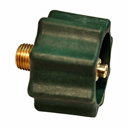 "Picture of Marshall Excelsior  Green 1-5/16"" FACME x 1/4"" MNPT LP Hose Connector w/Shut Off Valve ME518 06-0233"