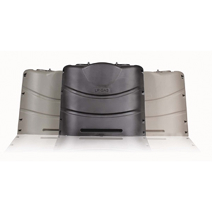 Picture of Camco  Black Plastic Dual 20/30# LP Tank Cover 40539 06-0344