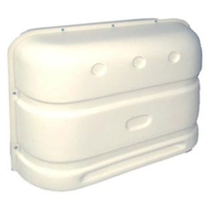 Picture of Icon  Polar White Dual 20/30# Hard Sided Propane Tank Cover 00385 06-0644