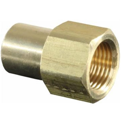 """Picture of JR Products  3/8"""" F Flare To 1/4"""" MPT LP Adapter Fitting 07-30225 06-0690"""