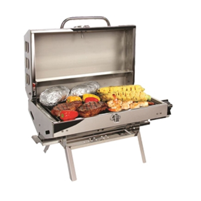 Picture of Camco  Polished SS w/ Folding Legs LP Gas Olympian 5500 BBQ Grill 57305 06-1137