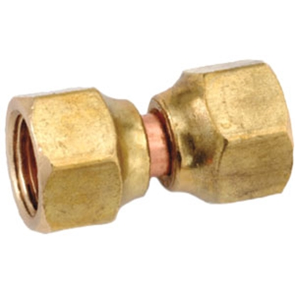"Picture of Anderson Metal LF 7700 Series 1/2"" OD Tube 45 Deg SAE Flare Swivel Nut Brass Fresh Water Straight Fitting 704070-08 06-1311"