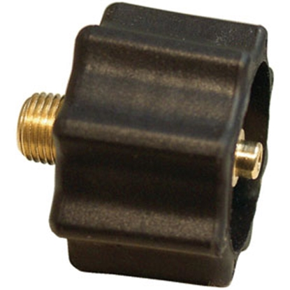 "Picture of Marshall Excelsior  Black 1-5/16"" FACME x 1/4"" MNPT LP Hose Connector w/Shut Off Valve ME517 06-2816"