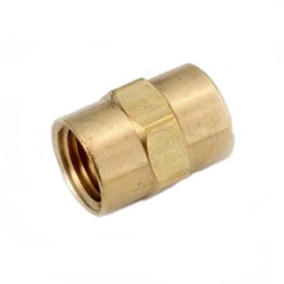 "Picture of Anderson Metal LF 7103 Series 1/2"" FPT Brass Fresh Water Straight Fitting 706103-08 06-9202"